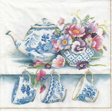 4x Paper Napkins for Party, Decoupage Craft Fine Bone Chine