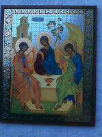 RELIGEOUS  CHURCH  Icon Russian Christian Orthodox  TROIKA