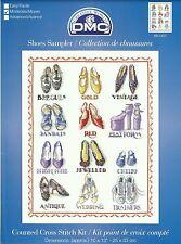 DMC Chaussures sampler Compté Cross Stitch Kit high heels & plus 25x33cm bk1457 nouveau