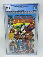 MARVEL SUPER HEROES SECRET WARS 1 CGC 9.4 Newsstand Edition