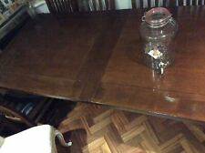 Family Large Hard Wood Extending Dining Table And 6 Chairs Heavy