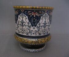 1695* moutardier en faience de sarreguemines décor lambrequins ancien