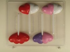 Valentine's Day Chocolate Mould - Double Heart on Stick