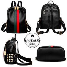 Women Girls PU Leather Backpack Gucci Pattern Travel Shoulder Bag Rucksack Bag