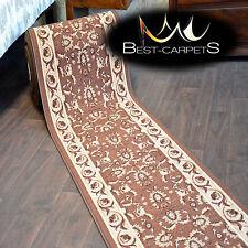 Runner Rugs, IZMIR brown, modern NON-slip, Stairs Width 67cm-133cm extra long