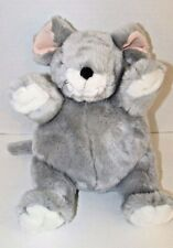 Unipak gray plush mouse Plumpee round pot belly pink ears white feet face