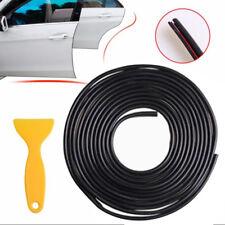 4EF1 5 Meter Black Chrome Moulding Trim Strip Car Door Edge Lip Strip Guard Prot