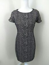Women's Size Medium  ? Leopard Print Dress Black Short Sexy Stretch Lined Brown