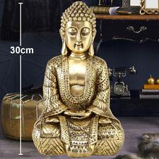 Estatua Buda Resina Asia Figura Oro Mercado de Trabajo Habitación Deco Escultura