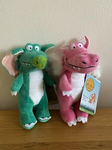 ZOG THE DRAGON !!! Pink And Green Dragon 6 Inch *2 For £13 *