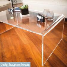 Tavolino basso plexiglass trasparente 60x40 h:40cm  - SPEDIZIONE GRATUITA