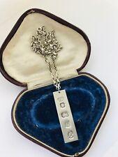 Sterling Silver Ingot Jubilee Necklace London 1977 28gr