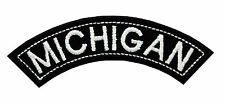 MICHIGAN TOP MINI ROCKER EMBROIDERED MOTORCYCLE PATCH