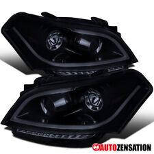 For 2010-2011 Kia Soul Glossy Black Smoke Projector Headlights+LED Signal DRL