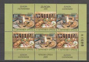 s36138 BOSNIA HERZEGOVINA SERBIA 2005 EUROPA CEPT MNH** S/S GASTRONOMIA