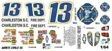 #13 Joe Nemechek Charleston Fire 2007 1/64th HO Scale Slot Car Decals