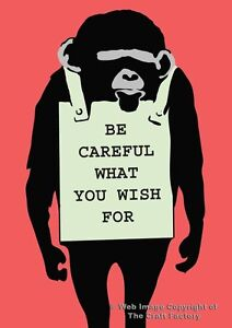 Careful What You Wish For Card - MonkeySign Range MS016 - Blank