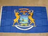 3X5 MICHIGAN STATE FLAG MI FLAGS STATES NEW USA US F251
