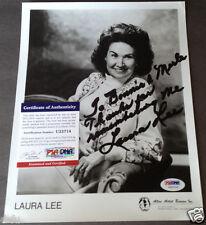 LAURA LEE MCBRIDE Signed Rare Photo To Bonnie & Merle Haggard PSA/DNA Autograph