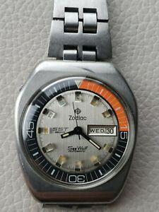 Zodiac Sea Wolf SST 36000•White dial version•Automatic•Serviced•Warranty