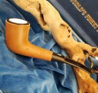 NEVER SMOKED Antique Meerschaum Lined AMBOSELI Tanzania KIKO #42 Leather Pipe
