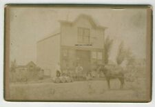 Original Cabinet Photo Old Building Street Scene House or Store Mexico Missouri