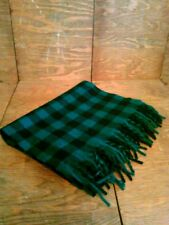 Vintage New Tags Italy The Gap 100% Lambswool Teal Black Checkered Scarf