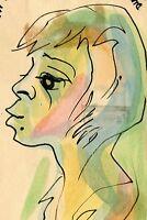 VINTAGE 1957 KARL PRIEBE NUBIAN QUEEN MID MOD FINE ART MILWAUKEE POSTAL PAINTING