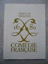 Chronique de la comédie française Septembre - Décembre 1965