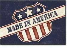 New Made In America Decorative Metal Refrigerator Magnet