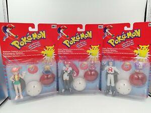 Vintage Pokemon Trainers Misty, James & Jesse Figures - Hasbro Nintendo 2000 New