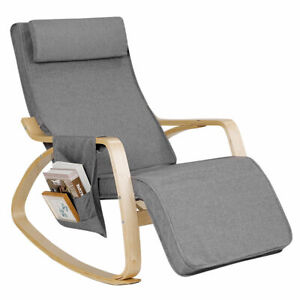 Adjustable Comfortable Rocking Chair Living Room Bedroom Relaxing Lounge Chair