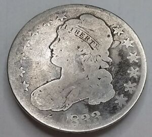 1833 Capped Bust Half Dollar, Nice But Well Circulated, Affordable Early Half