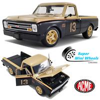 ACME 1:18 - 1967 Chevrolet C10 Pickup Truck - Smokey Yunick - Black/Gold
