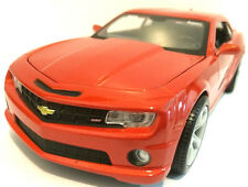 "Maisto 2010 Chevy Chevrolet Camaro SS 1:24 scale 8"" model Inferno Orange"