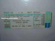 U2 Concert Ticket L.A. STAPLES CENTER Elevation Tour 11/19/2001 MTV Bono  RARE