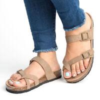 Women Ladies Flip Flops Cork Footbed Sandals Summer Beach Slippers Slip On Shoes