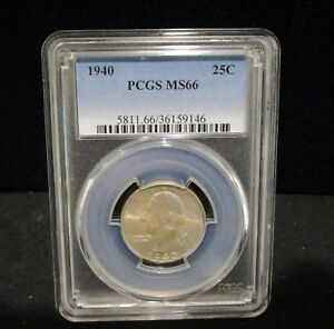 1940 Washington Silver Quarter - PCGS  MS66 - 9146       ENN COINS