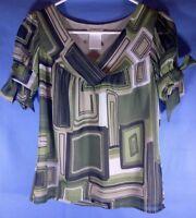 Worthington S Green Square Geometric Shirt
