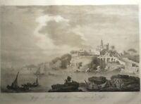 Incisione su rame all'acquaforte Napoli Marechiaro da Saint Non 1836 (P468)