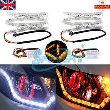 2x Sequential Dynamic Car DRL LED Strip Light Signal Indicator Headlight Lamp