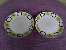 Set of 2 222 Fifth Mid Century Modern Inspired Atomic Pink Dinner Plates 10.75""