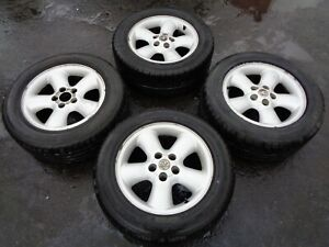 """VAUXHALL OMEGA ELITE 16"""" ALLOY WHEELS WITH TYRES 225/55/16 (PART NO: 70615)"""