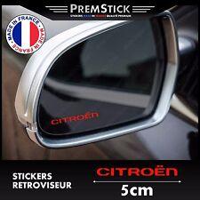 Kit 3 Stickers Retroviseur Voiture Citroen ref2; Auto autocollant retro