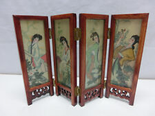 Tisch Paravent Made in China , Malerei Seide ? Asia Motiv, Tischparavent  #1732