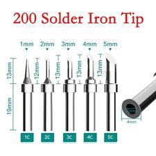 Solder Iron Tip 200 Series For Soldering Rework Station Tool 1c2c3c4c5c