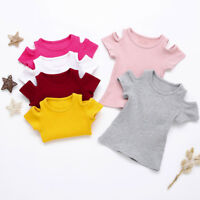 Kids Girls Soft Short Sleeve Blouse Tops T-Shirt Summer Casual Tops Clothes Gift