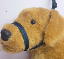 Figure of eight Airweb cushion  dog halter headcollar & Lead in 1 Navy & Forest