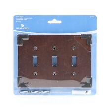 W27039-CHS Rowland Charcoal Ebony & Soft Iron Triple Switch Cover Plate