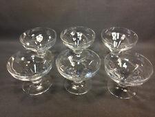 Lot 6 antichi bicchieri à pied tagliare a fruits decoro intagliato vintage anni